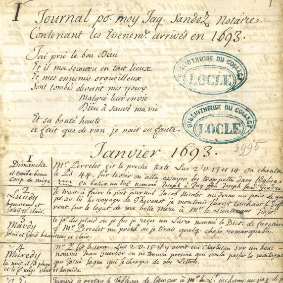 Exposition temporaire – Des fantômes aux musées : écrits quotidiens aux 17e et 18e siècles